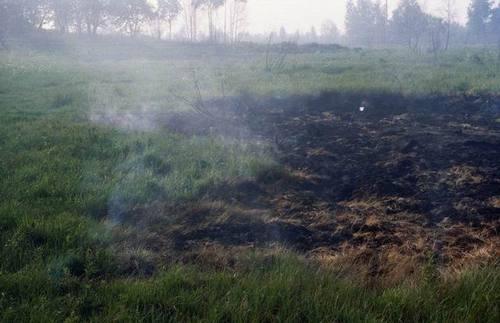Burning Peat
