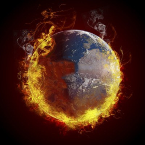 global-warming-concept-planet-earth-burning-fire