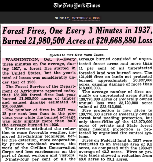 ny times wildfires 1938