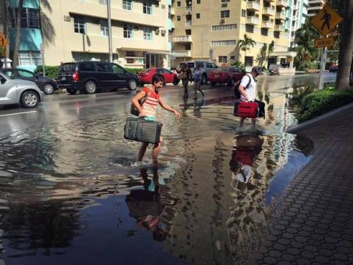 Flooding Miami Beach
